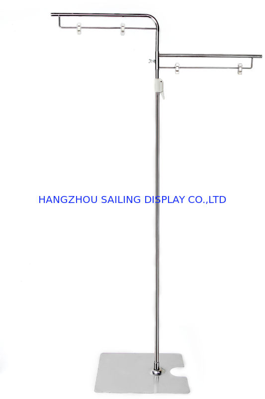 Retail Floor Poster Stands , Floor Standing Sign Holders 380mm Pole تامین کننده