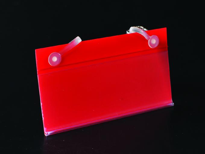 Retail Supermarket Shelf Data Strips PVC With Magnet Sticked Accessory