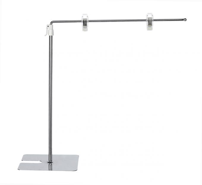 A3 , A4 POS Standing Retail Sign Holder Clip , 300-500mm Adjust Height