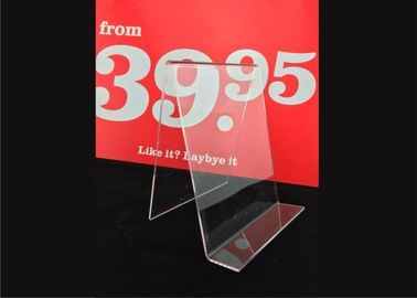 Custom Clear Acrylic Sign Holder , Acrylic Menu Poster Holders For Display